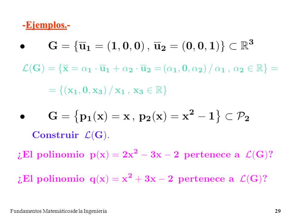 -Ejemplos.- Fundamentos Matemáticosde la Ingeniería