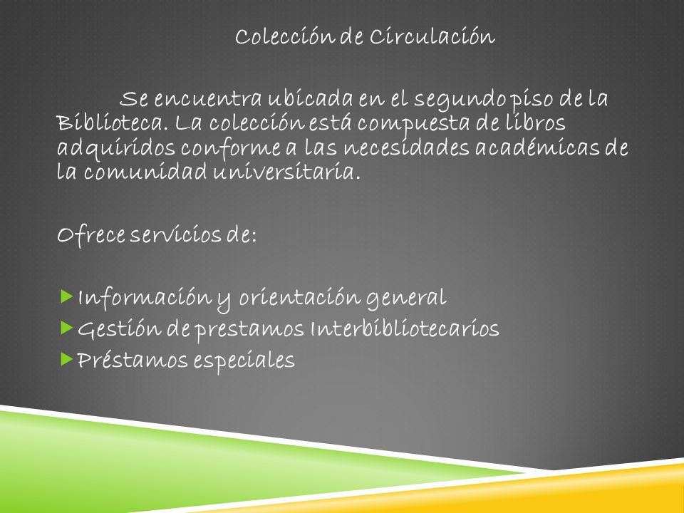 Colección de Circulación