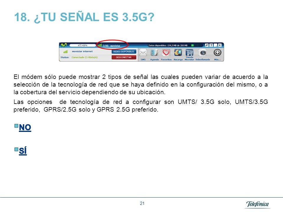 18. ¿TU SEÑAL ES 3.5G