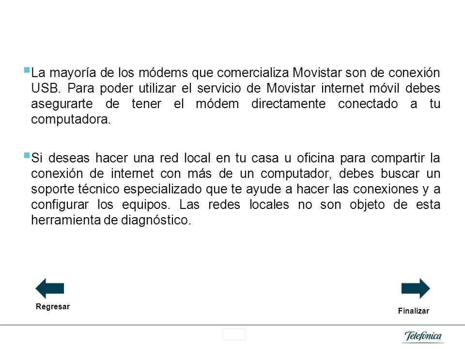 La mayoría de los módems que comercializa Movistar son de conexión USB
