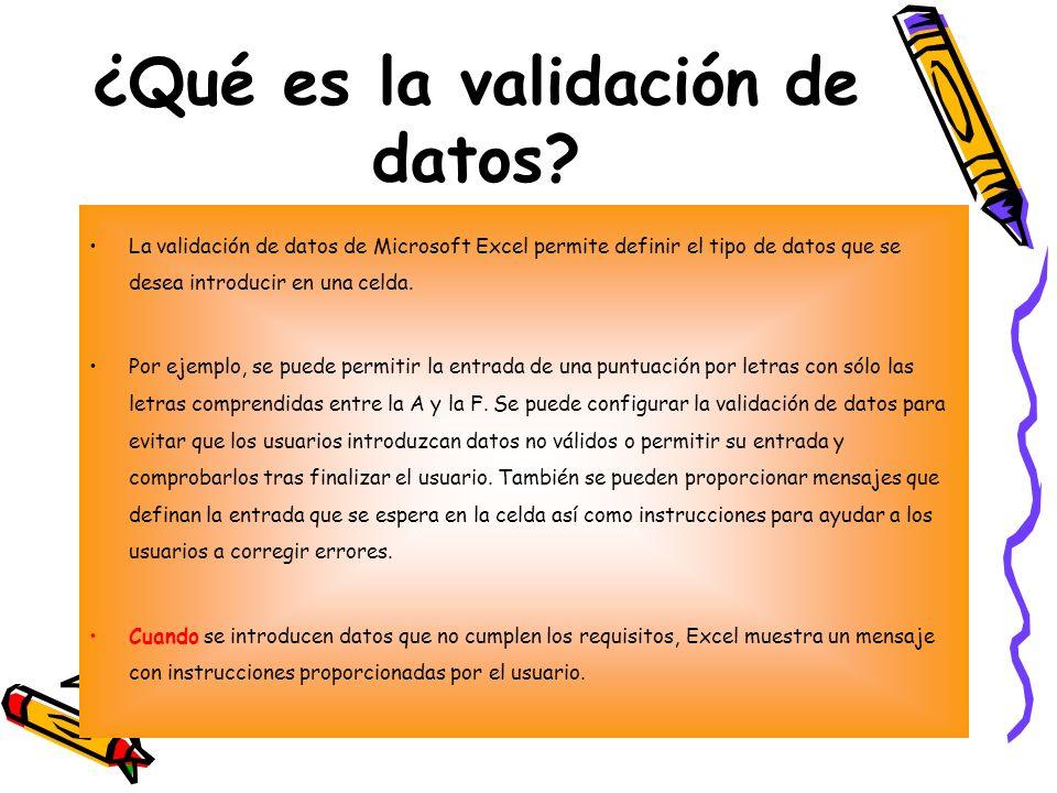 ¿Qué es la validación de datos