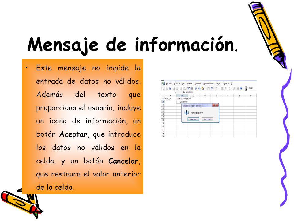 Mensaje de información.