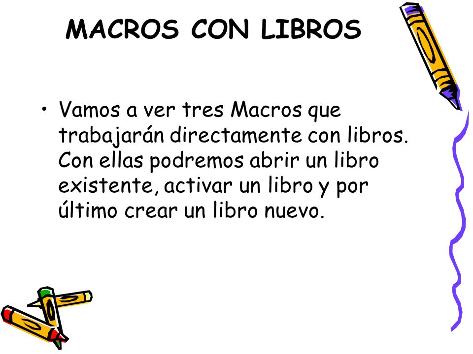 MACROS CON LIBROS