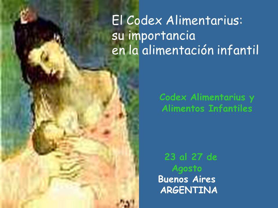 Codex Alimentarius y Alimentos Infantiles