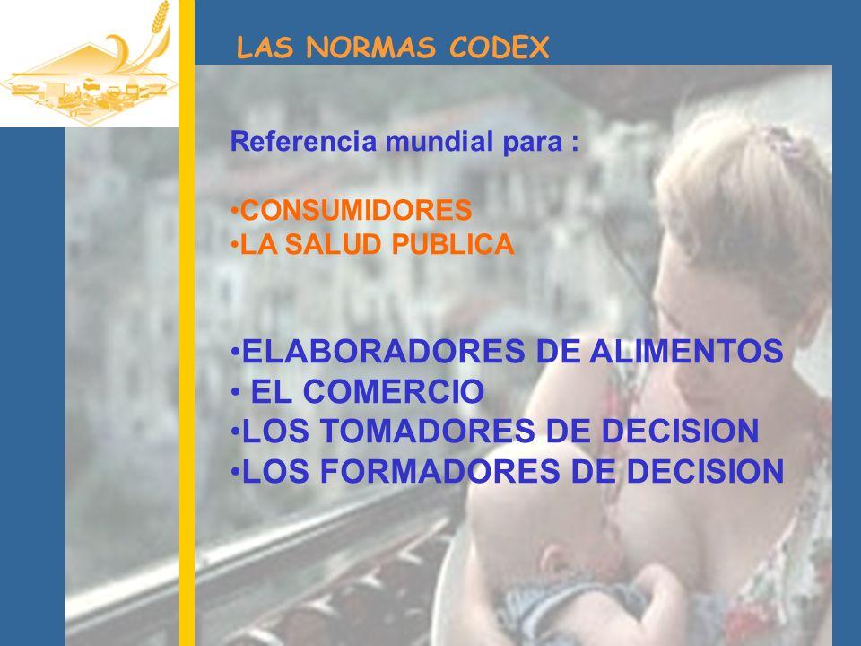 ELABORADORES DE ALIMENTOS EL COMERCIO LOS TOMADORES DE DECISION