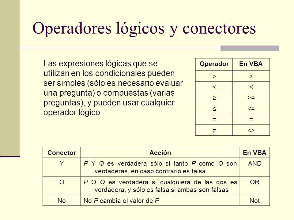 Operadores lógicos y conectores