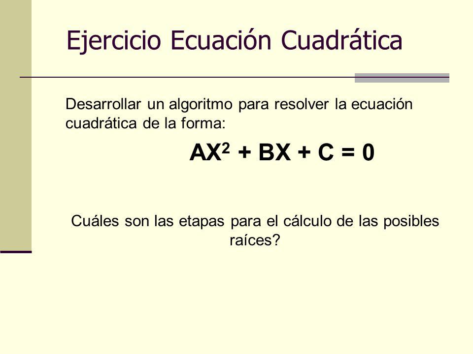 Cuáles son las etapas para el cálculo de las posibles raíces
