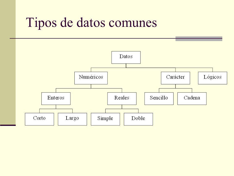Tipos de datos comunes 3