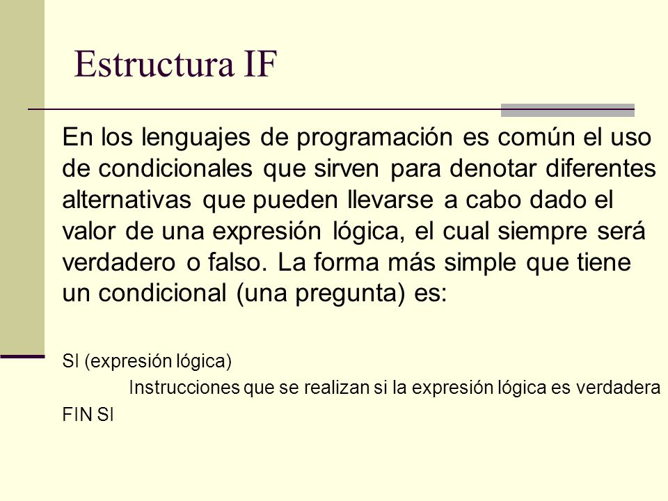 Estructura IF