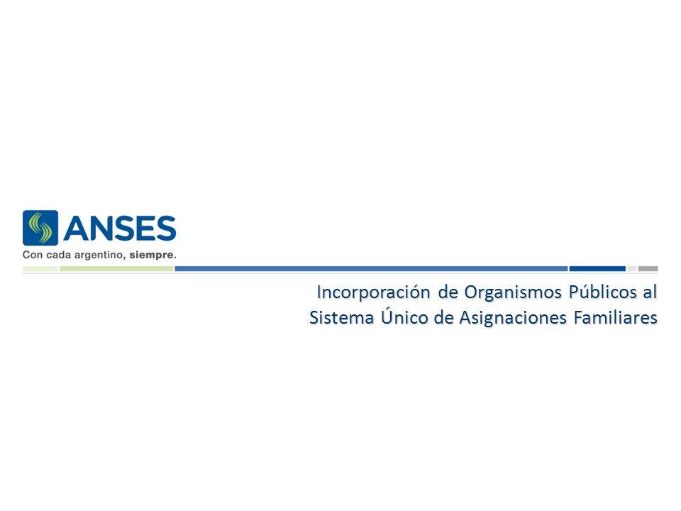 Incorporación de Organismos Públicos al Sistema Único de Asignaciones Familiares