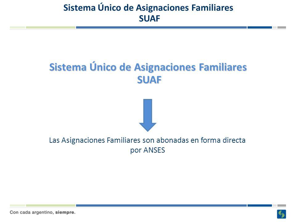 Sistema Único de Asignaciones Familiares SUAF