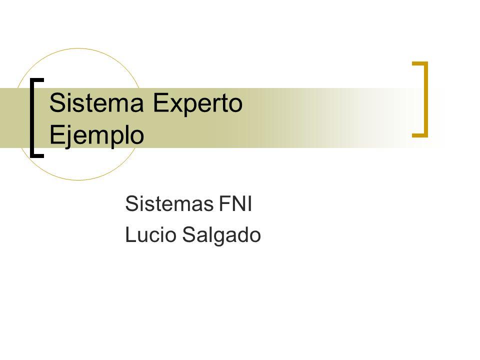 Sistema Experto Ejemplo