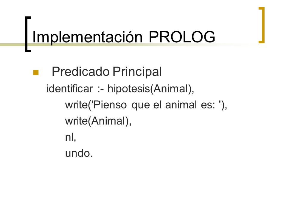 Implementación PROLOG