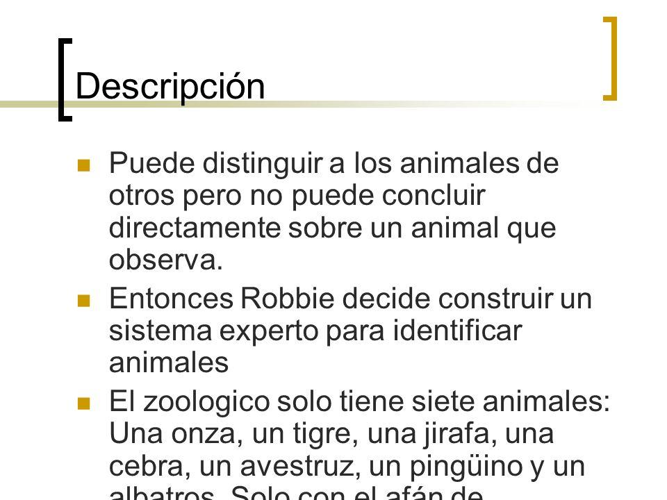 Descripción Puede distinguir a los animales de otros pero no puede concluir directamente sobre un animal que observa.