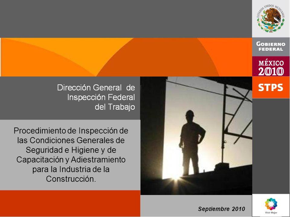 Procedimiento de Inspección de las Condiciones Generales de Seguridad e Higiene y de Capacitación y Adiestramiento para la Industria de la Construcción.