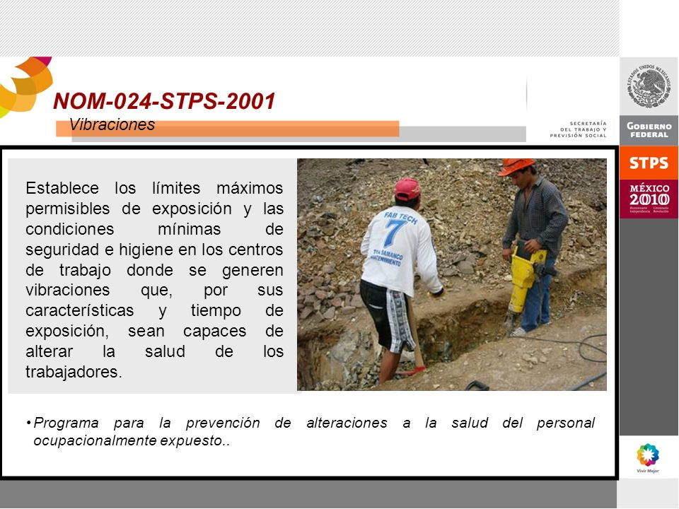 NOM-024-STPS-2001 Vibraciones