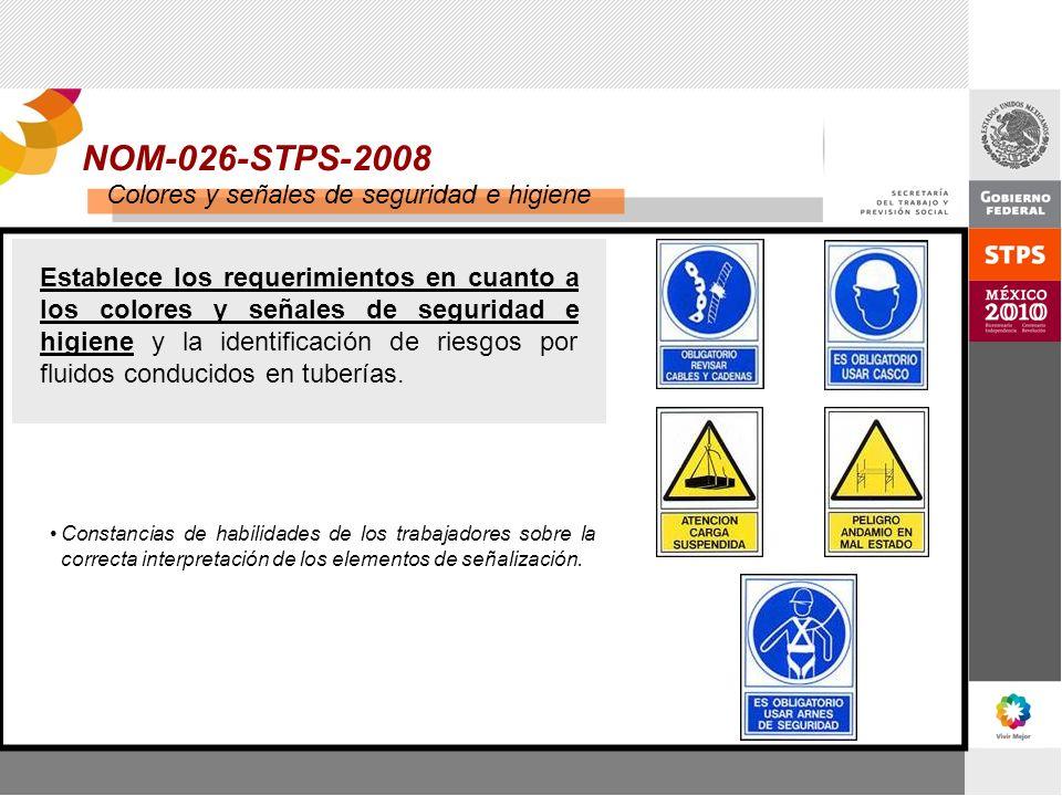 NOM-026-STPS-2008 Colores y señales de seguridad e higiene