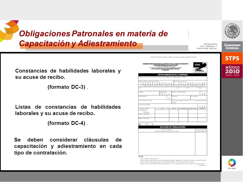 Obligaciones Patronales en materia de Capacitación y Adiestramiento