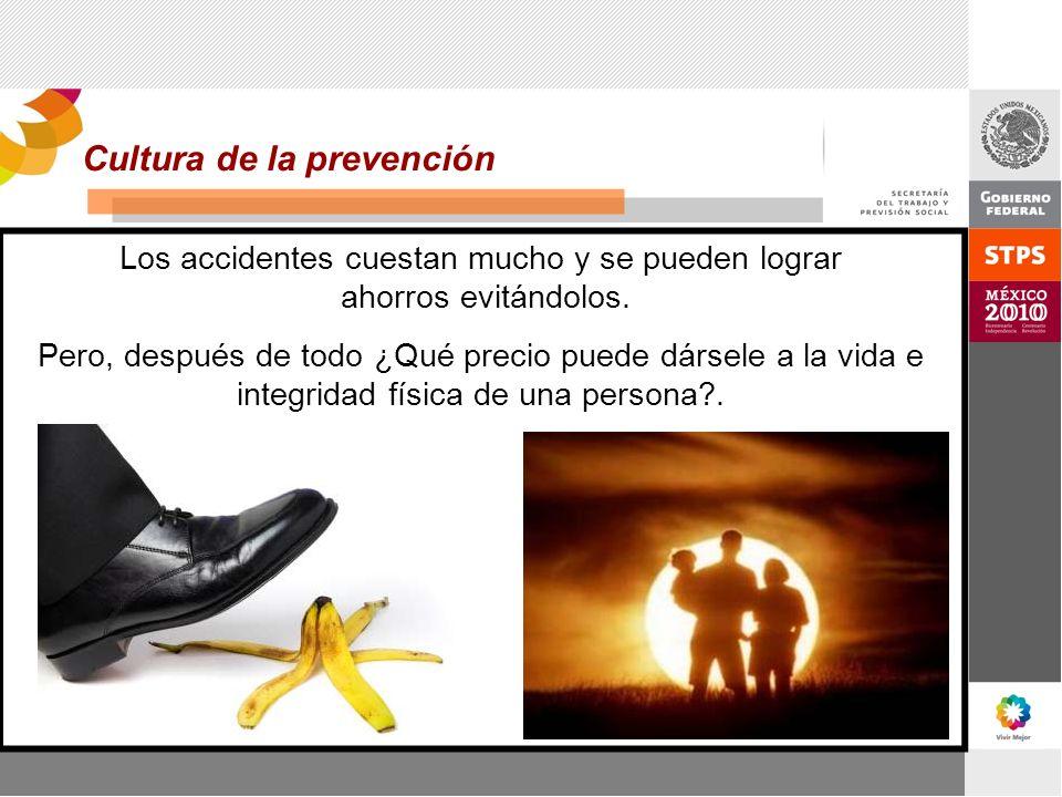 Los accidentes cuestan mucho y se pueden lograr ahorros evitándolos.