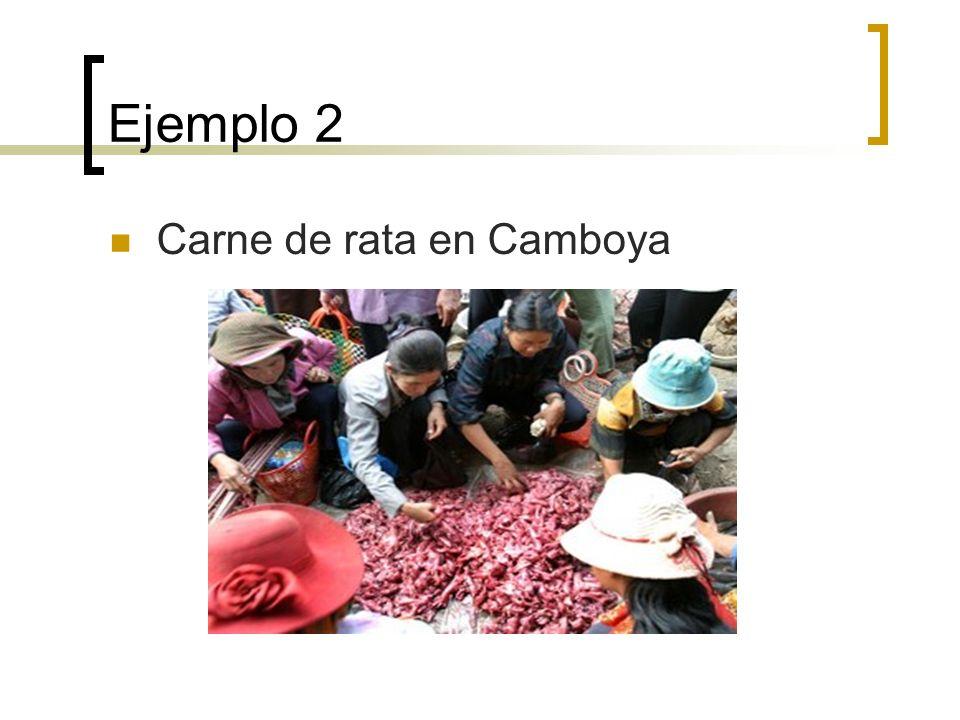 Ejemplo 2 Carne de rata en Camboya