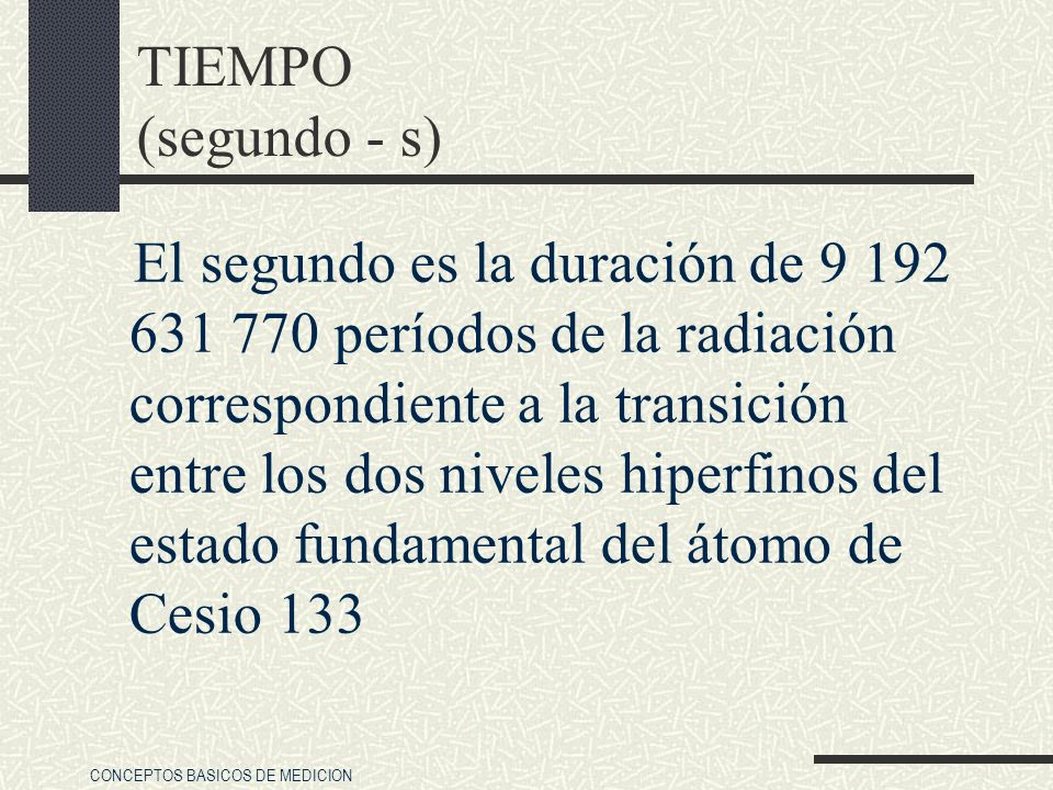 TIEMPO (segundo - s)