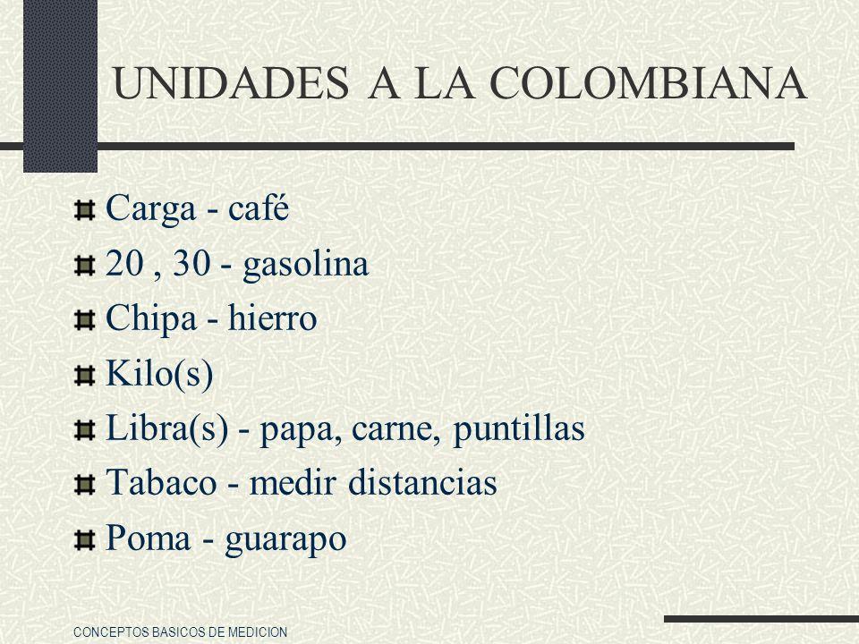 UNIDADES A LA COLOMBIANA