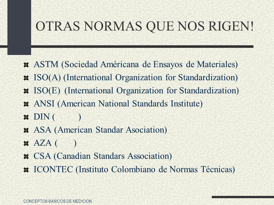OTRAS NORMAS QUE NOS RIGEN!