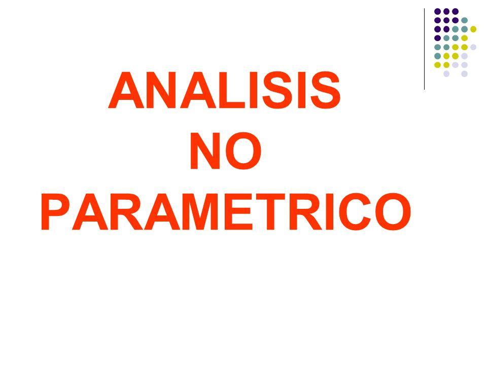 ANALISIS NO PARAMETRICO
