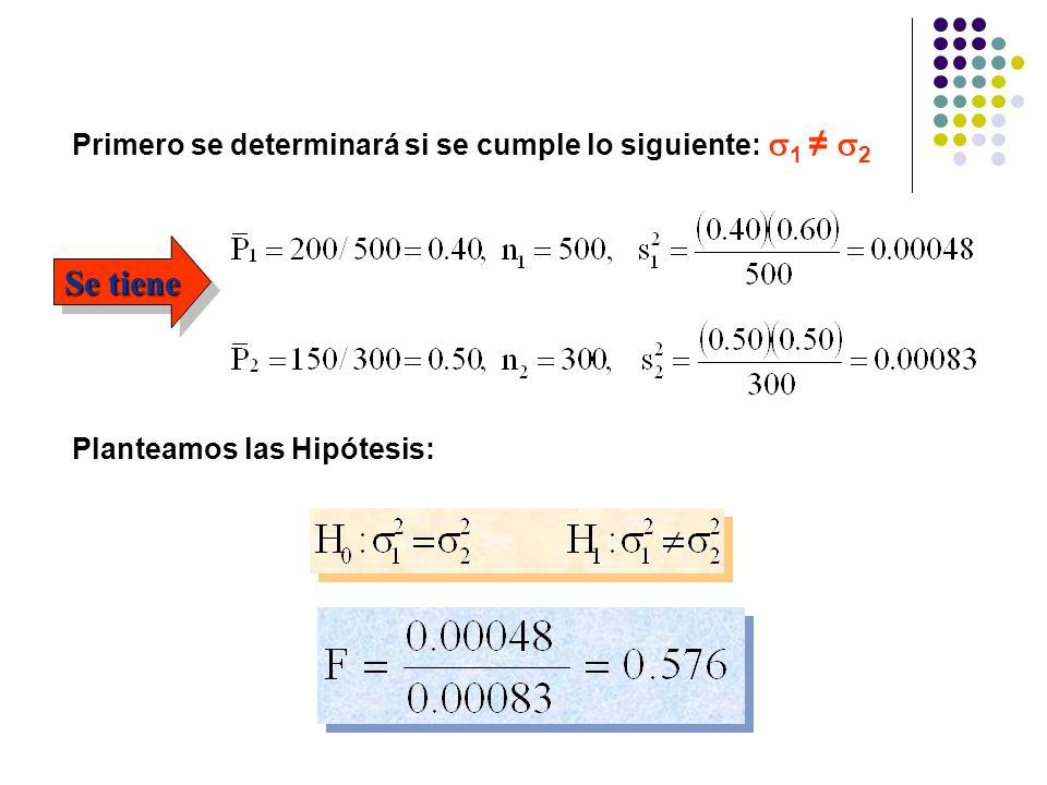 Se tiene Primero se determinará si se cumple lo siguiente: 1 ≠ 2