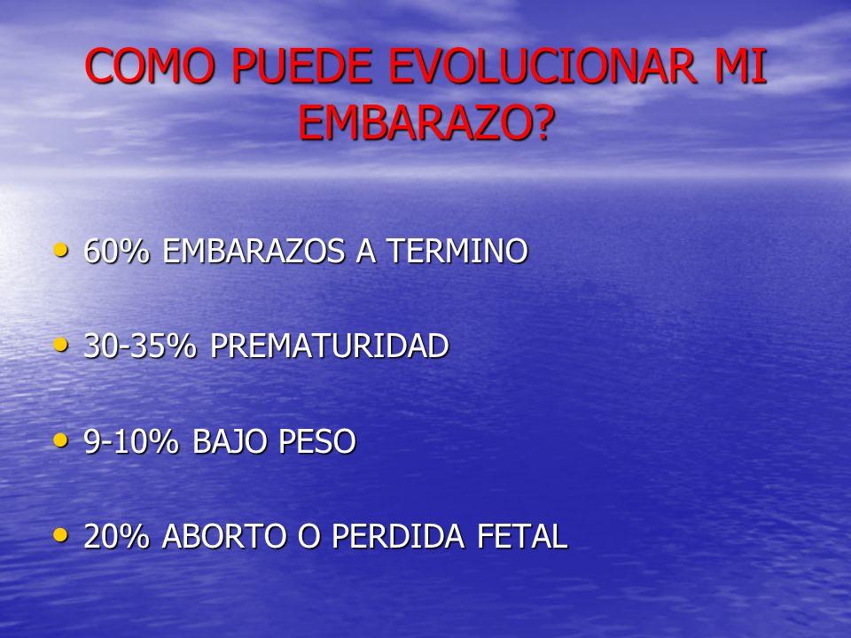 COMO PUEDE EVOLUCIONAR MI EMBARAZO