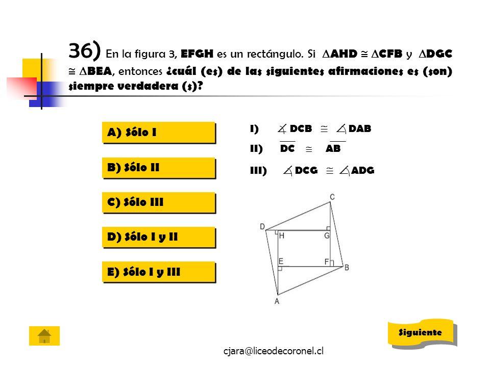 36) En la figura 3, EFGH es un rectángulo