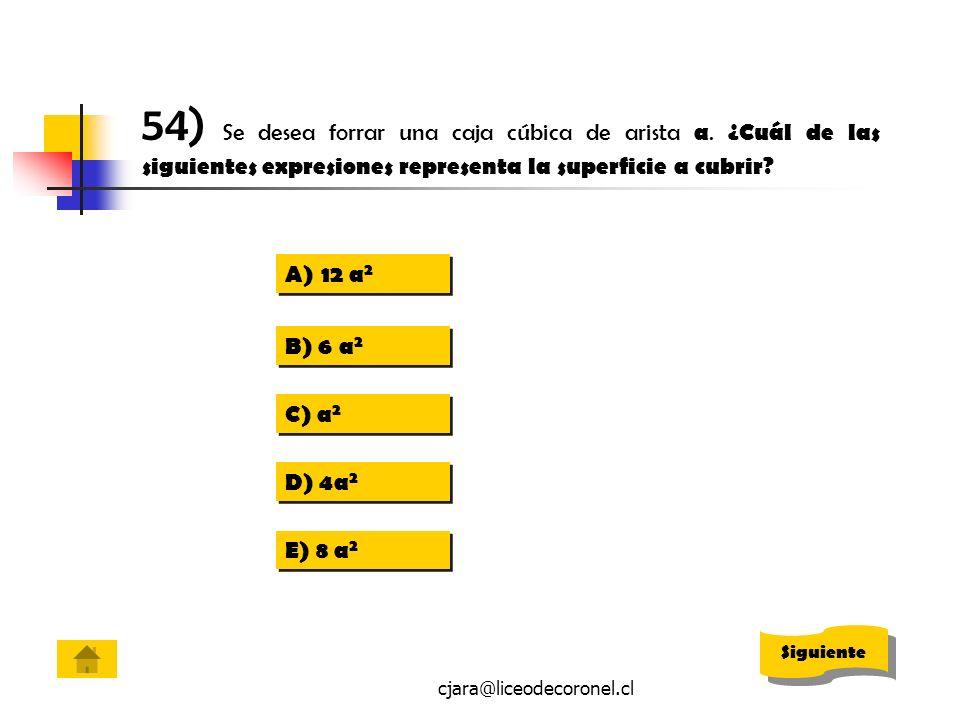 54) Se desea forrar una caja cúbica de arista a