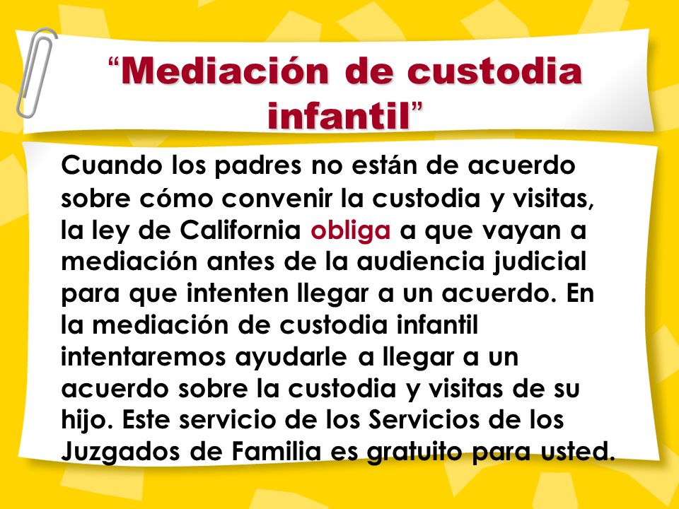 Custodia única. . . No se concede a un padre porque el otro no paga la manutención.