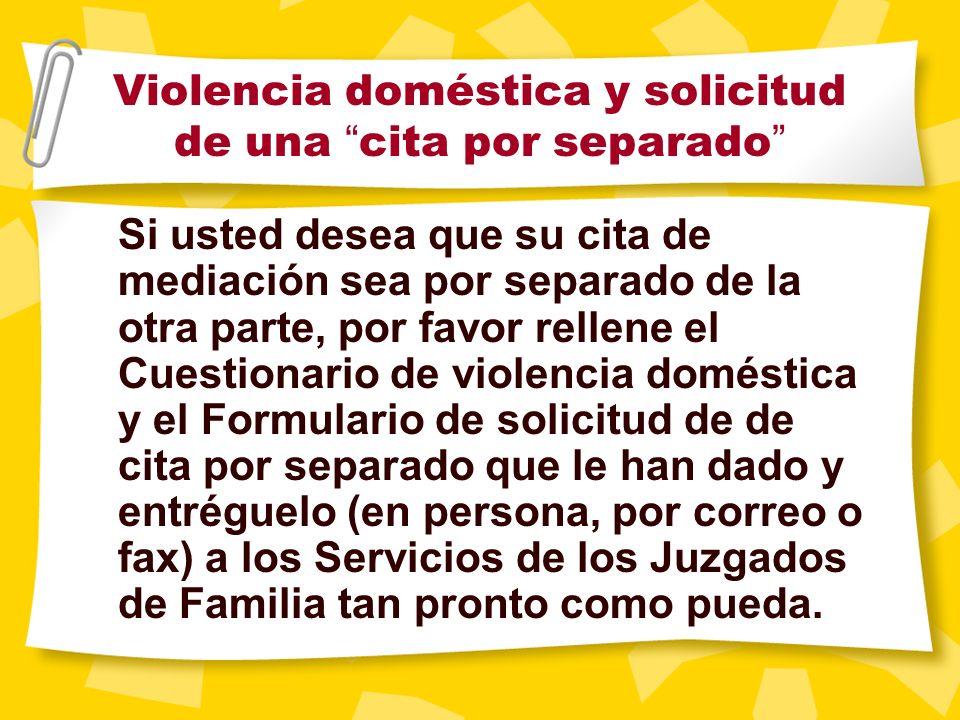 Un apunte especial sobre violencia doméstica