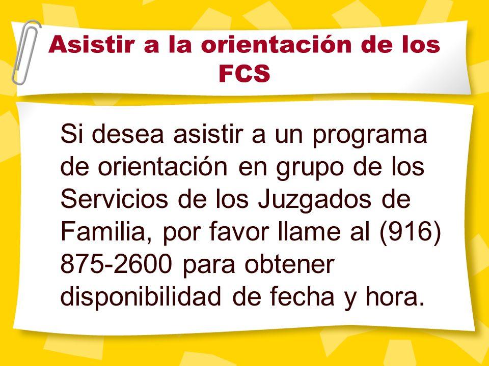 Bienvenido a la Orientación para padres y tutores de los Servicios de los Juzgados de Familia