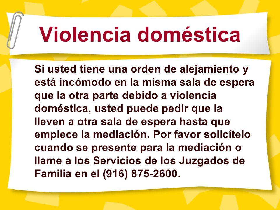 Violencia doméstica y solicitud de una cita por separado