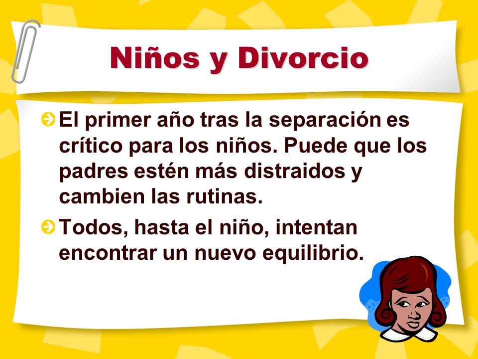 Asuntos especiales Niños y divorcio Cooperación de los padres
