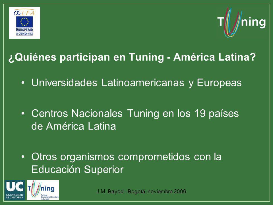 ¿Quiénes participan en Tuning - América Latina
