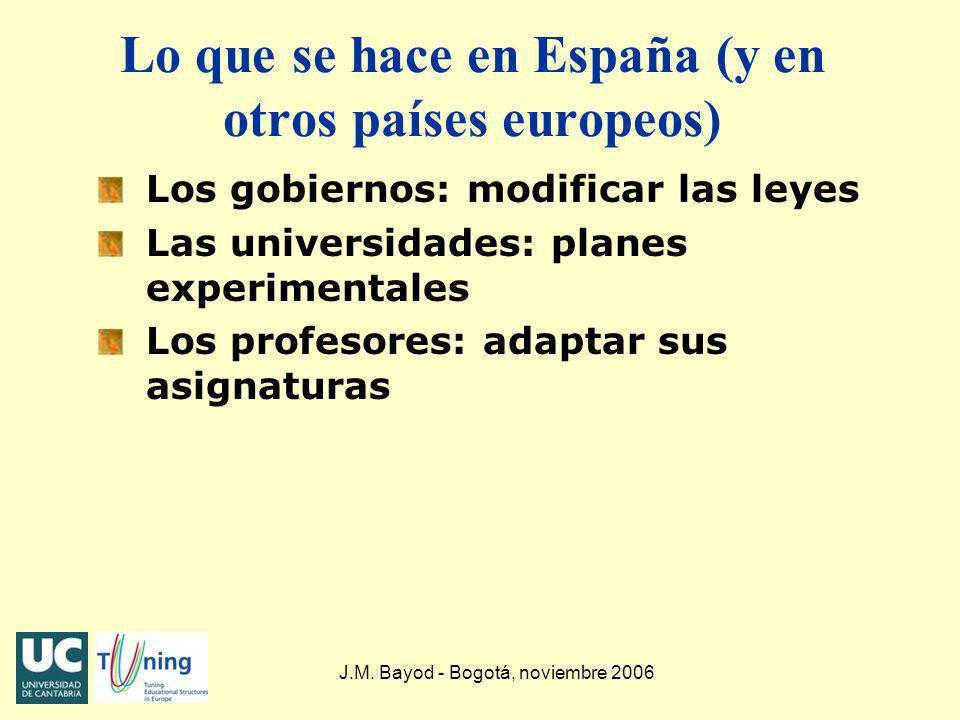 Lo que se hace en España (y en otros países europeos)
