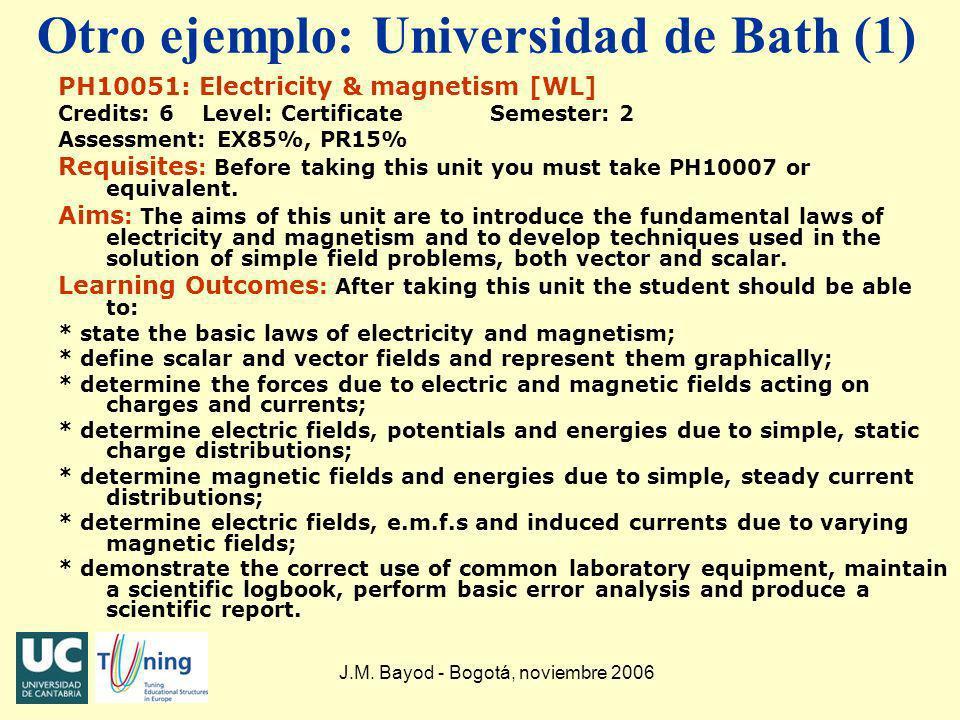 Otro ejemplo: Universidad de Bath (1)