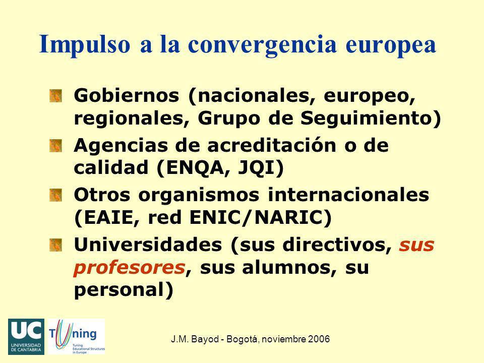 Impulso a la convergencia europea