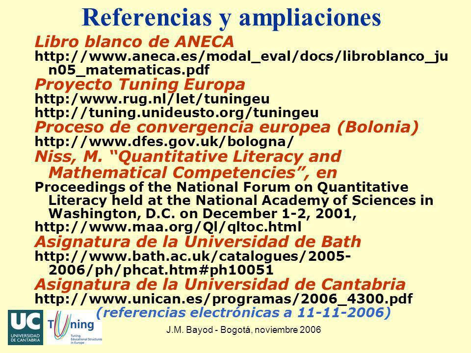 Referencias y ampliaciones