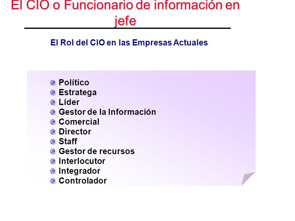El CIO o Funcionario de información en jefe
