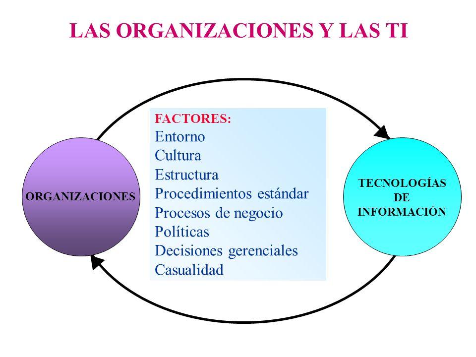 LAS ORGANIZACIONES Y LAS TI