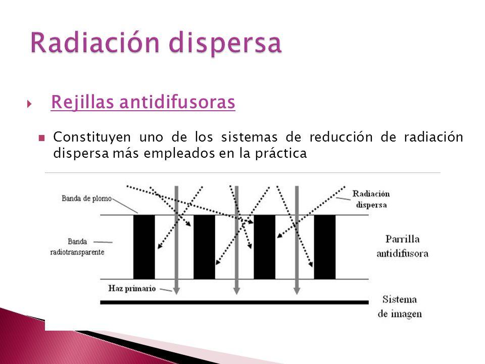 Radiación dispersa Rejillas antidifusoras