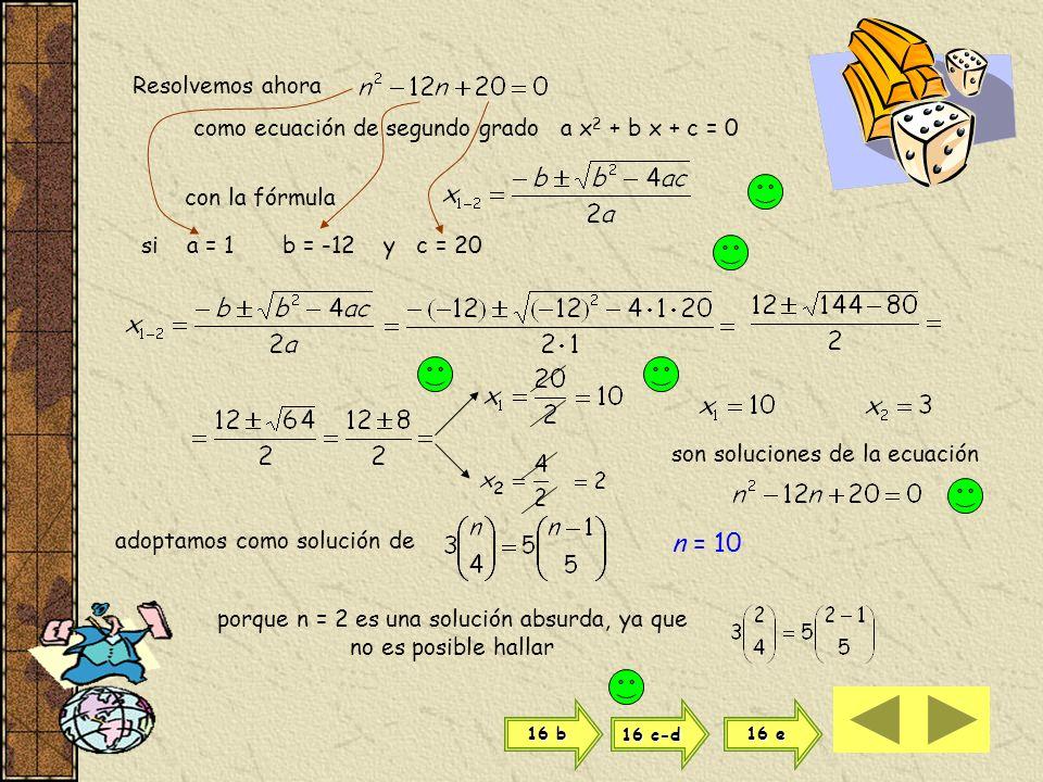 porque n = 2 es una solución absurda, ya que no es posible hallar