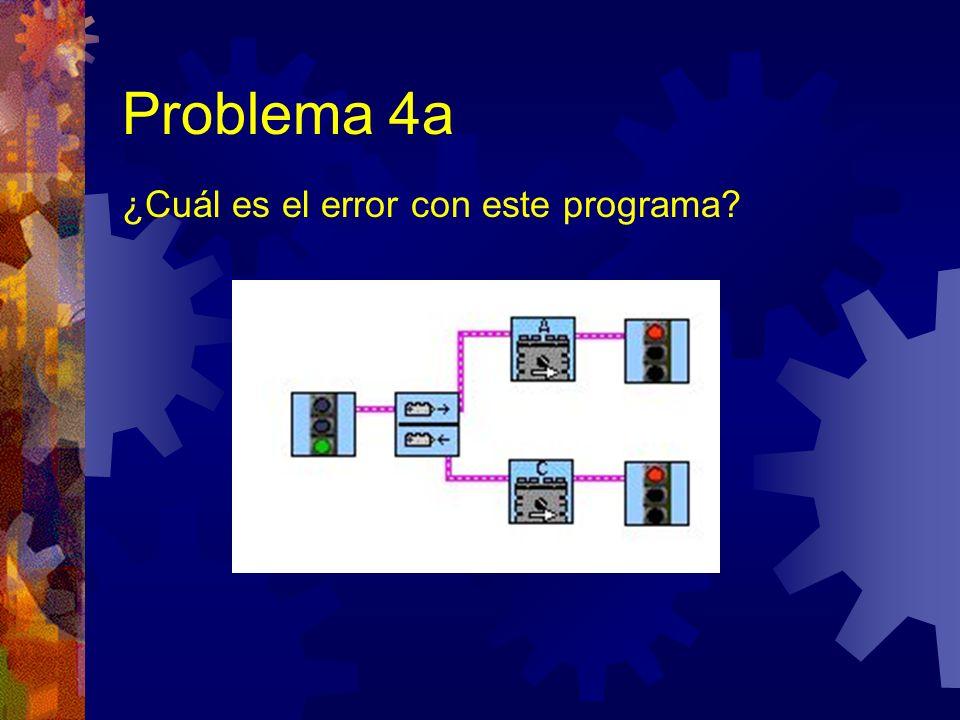 Problema 4a ¿Cuál es el error con este programa