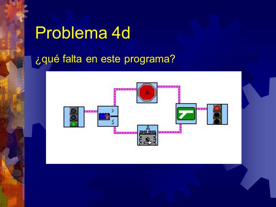 Problema 4d ¿qué falta en este programa