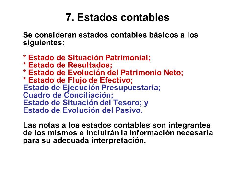 7. Estados contables