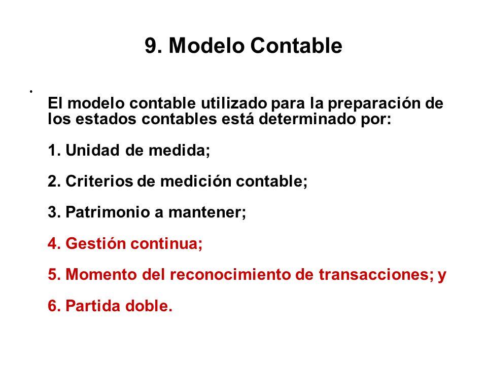 9. Modelo Contable